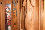 first nations, cedar, snowboard